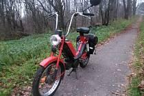 Nalezený moped.