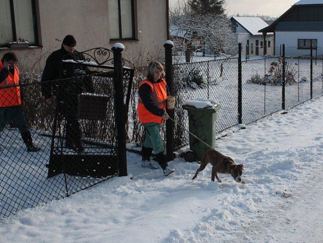 Záchrana opuštěného psa.