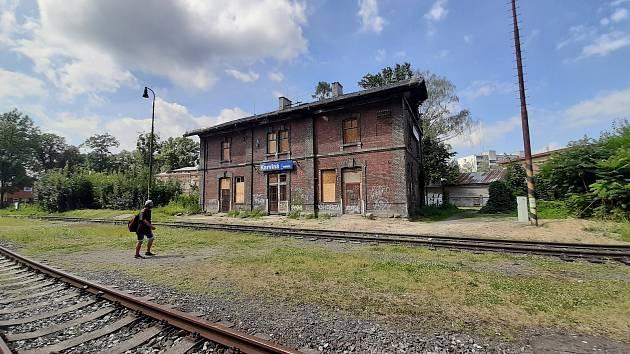Budova fryštátského vlakového nádraží.