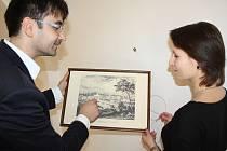 Výstava tzv. vedut na Zámku Fryštát je pro veřejnost zdarma a potrvá do konce května. Fotografie jsou ze středeční instalace výstavy.