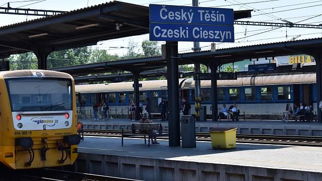 Českotěšínské nádraží. Ilustrační foto.