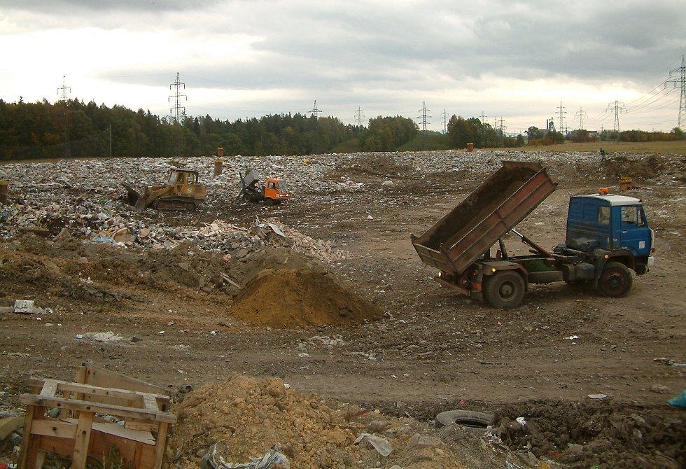 Horní Suchá. Depos, skládka komunálního odpadu.  Foto: Libor Běčák