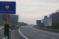 Dálnice D1 na hranici s Polskem.