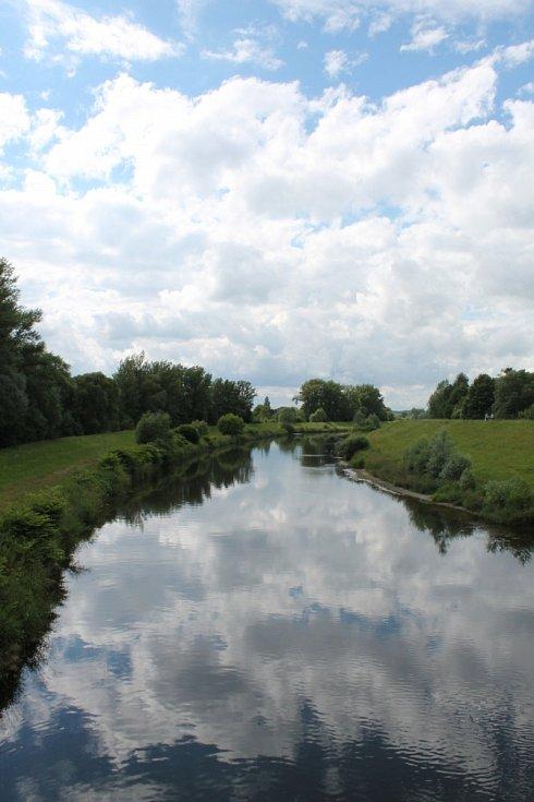 Výhled na řeku Olši.