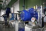 Bioplynová stanice pro zpracování bioodpadu v kogenerační jednotce na skládce Depos v Horní Suché. Regulační část stanice.