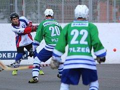 Hokejbalisté hrají v semifinále 1:1 a o víkendu je čekají klíčové zápasy o postup.