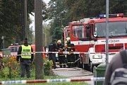 Výbuch a požár v Jarošově ulici v Havířově-Šumbarku.