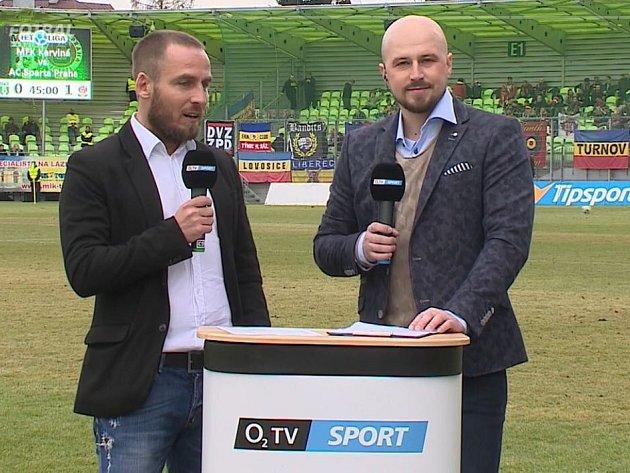 Miroslav Matušovič v roli spolukomentátora O2 TV.