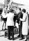Zde máme rok 1987, na nejvyšším stupni vítězka závodu Družba žen Angela Ranft z Německa. Jde o populární Gracii Orlová, která se v prvních letech jezdila jako Družba žen.