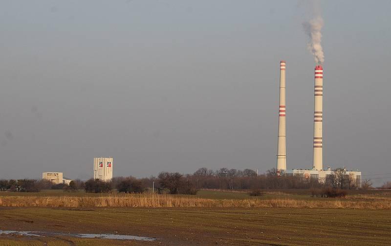 Pohled na Elektrárnu Dětmarovice