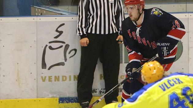 Bez pilíře obrany Zdeňka Deutsche se museli proti Břeclavi obejít hráči Karviné.
