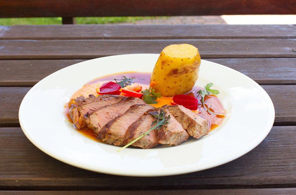 Restaurace Ovečka, jídlo.
