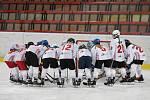 Karvinské hokejistky (v bílém) proti Litvínovu.