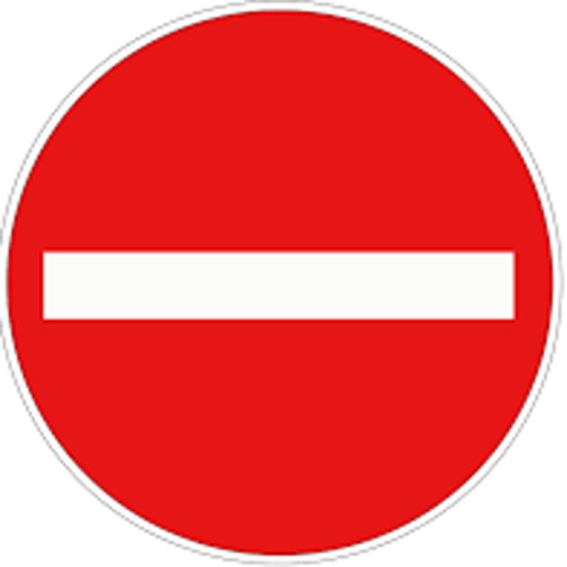 Dopravní značka B2 Zákaz vjezdu všech vozidel.