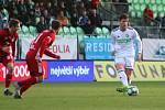 Karviná (v bílém) doma opět nevyhrála. S Olomoucí remizovala 1:1.