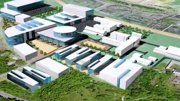Vizualizace možné podoby průmyslové zóny Dukla.