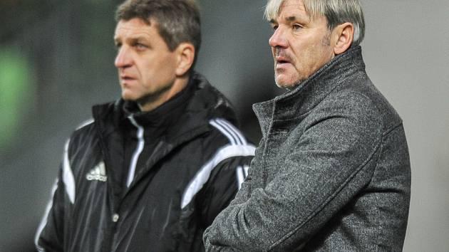 Lubomír Vlk (vpravo) se svým kolegou Josefem Muchou.