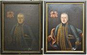 Podobizna Jiřího Fridricha Beese z Chrostiny před restaurováním a poté.