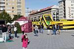 Páteční program Týdne mobility v centru Havířova.