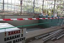 Zateplení krytého bazénu v Havířově-Šumbarku.