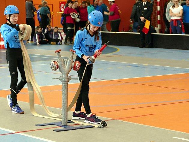 Halová soutěž mladých hasičů v Havířově 2018.