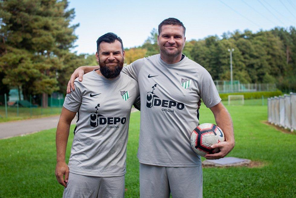 Jiří a Jarmil Kopelovi v dresu Baníku Fučíku Orlová.