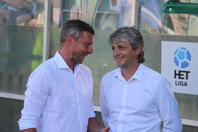 Weber (vpravo) odvedl vKarviné skvělou práci. Momentálně ale neměl výsledky a skončil.