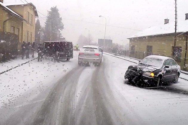 Nehoda na Orlovské ulici vHavířově.