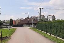 Dolní Suchá. Městská část Havířova, tvořená převážně rodinnými domy. Výhled na sídliště Šumbark.