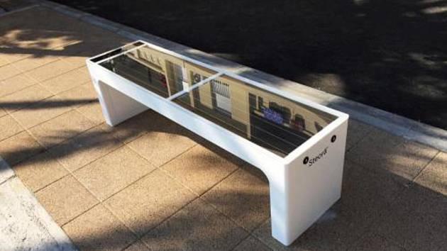 Solární lavička - Ilustrační foto.