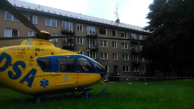 Snímek z místa výbuchu v Havířově.