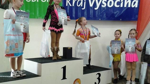 Laura Kotyzová (vpravo v růžovém) byla v Ledči pátá.