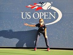 Lenka Podjuklová na US Open.