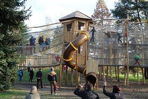 Dětský koutek v parku Boženy Němcové