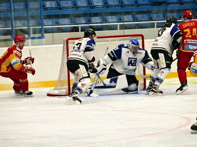 Hokejisté Havířova zvítězili v Jihlavě a dostali se na první místo.