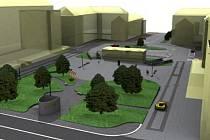 Návrh podoby náměstí TGM v Šumbarku.