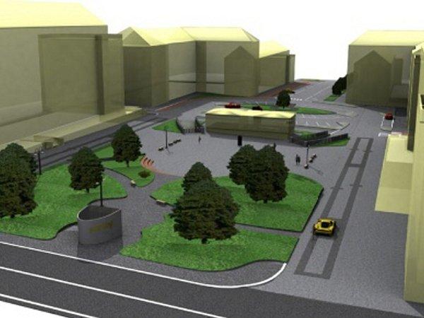 Návrh podoby náměstí TGM vŠumbarku.