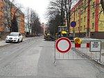 Opravy ulic na Karvinsku