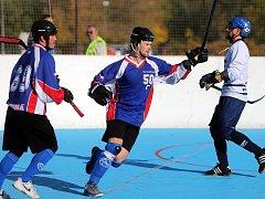 Martin Pala je lídrem karvinských hokejbalistů.