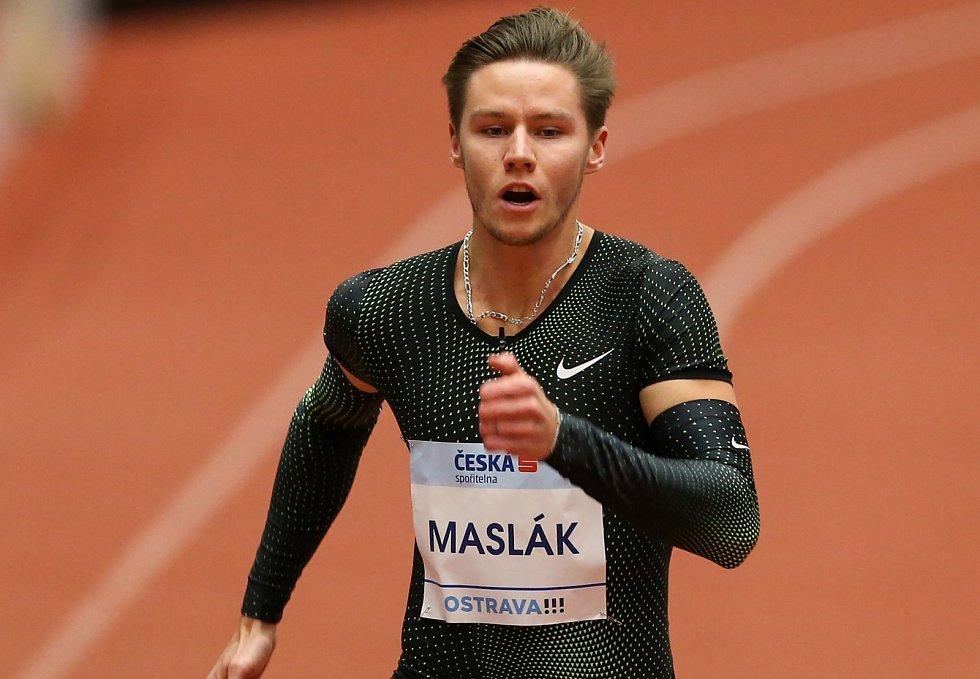 Pavel Maslák v Ostravě vyhrál běh na 300 metrů. S časem ale nebyl moc spokojen.