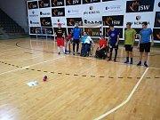 Hrej fair play s účastí hokejistů JKH GKS Jastrzebie, Hokejového klubu Žilina, AZ Havířov a boccistů.