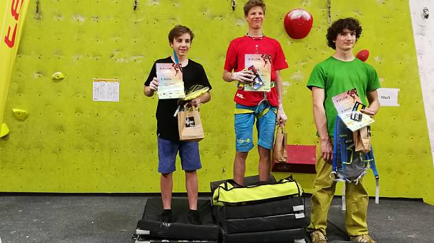 Adam Adamovský vyhrál závod chlapců do 16 let.