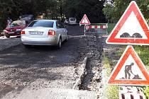 Michálkovická ulice spojující Ostravu-Michálkovice a Rychvald je rozkopaná, opravuje se. Průjezdná je, ale řidiče zbrzdí dva semafory.