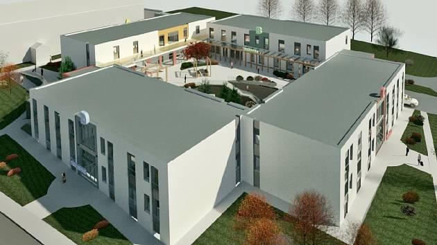 Domov Březiny v Petřvaldu u Karviné. Vizualizace nového projektu, rok 2021.