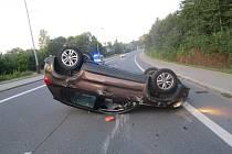 Nehoda ve Slezské ulici v Orlové.