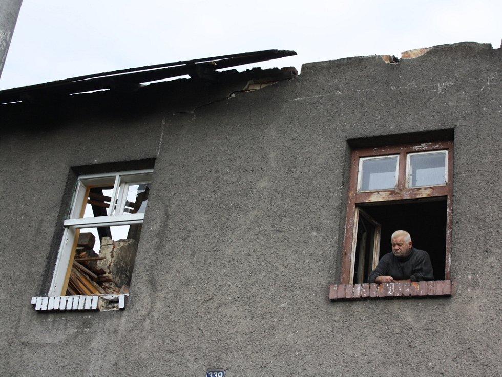 Rozebírané domky v ulici Závodní v Orlové-Porubě.