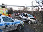 Vážná nehoda na silnici mezi Orlovou a Havířovem.
