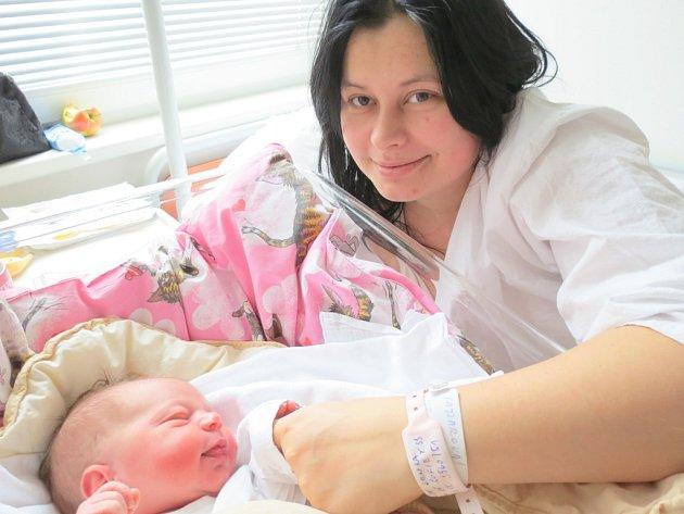 Sofie Kajzarová, 19. prosince 2012, Havířov, váha: 3,56 kg, míra: 51 cm