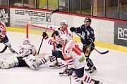 Havířovští hokejisté na obranné šiky Třebíče nevyzráli.