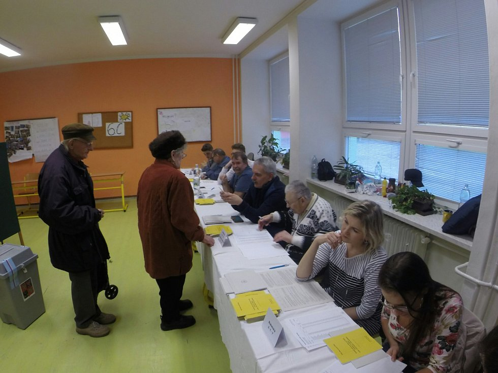 Prezidentské volby v Hlučíně-Rovninách, pátek 12. ledna 2018.
